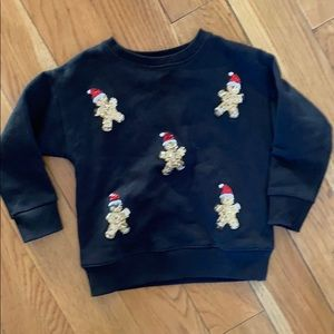 Stylish sequin gingerbread man sweatshirt